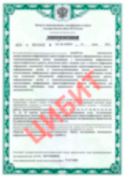 Лицензия ФСБ России на осуществление деятельности, связанной с шифровальными (криптографическими) средствами